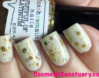 Fistful of Latinum Nail Polish - holographic gold top coat