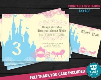 Princess Birthday Invitation - Princess Party Invite - Princess Invitation - Princess Party - Princess Birthday - Princess Printables