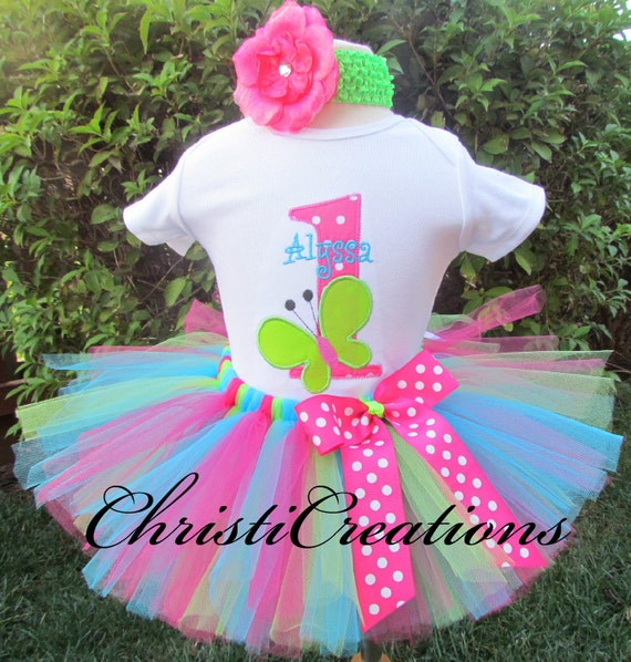 Butterfly 1st Birthday Outfit Baby Girl Cake Smash 1st