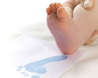 BABYink® Blue Colour Ink-less Print Kit - Non-Toxic, Baby Safe - Handprint | Footprint | Keepsake  | Baby Gift  | Baby ink  | Print Kit