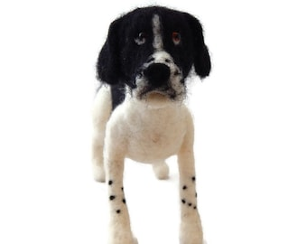 Personalised Dog Sculpture, Example English Pointer Dog. Needle felted custom dog art any breed