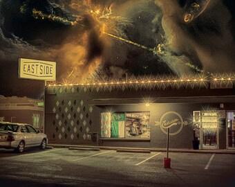 The East Side of Eternity - Limited Edition Canvas Print - Denton Texas Eastside Drafthouse