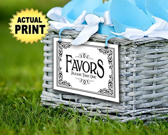 Wedding Sign, Favors Sign | PRINTED Please take one Favors sign, Favors Table Decoration, Wedding Favors Sign, Black White Wedding Signage