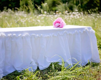 Double Ruffled Bench or Piano Bench Cover