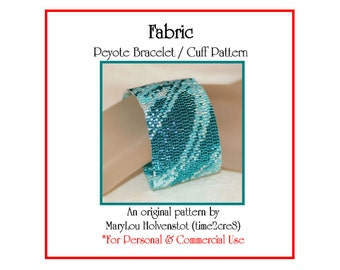 Peyote Bracelet Pattern ... FABRIC ... Monochromatic . Abstract . Bold . Chic . Stylish . Elegant . Beautiful . Make It Yourself . 3 for 2