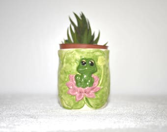 Frog Succulent Planter, trinket, catch all, pencil holder