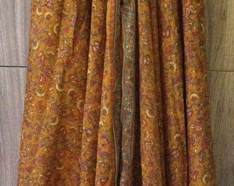 Vintage Gypsy Palazzo Pants - Gold Wildflowers