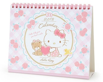 Sanrio Hello Kitty 2018 Calendar -  Desktop Calendar and Stickers Set