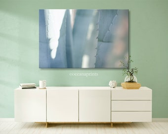 Desert Photo, Agave Print, Pita Photograph, Desert Artwork, Large Print Rock, Abstract Wall Decor, Blue Wall Art, Dreamy photo