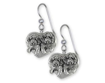 Double Goldendoodle Jewelry Sterling Silver Double Goldendoodle Earrings Handmade Dog Jewelry GDL5-E