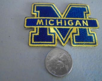 University of Michigan embroidered patches iron  or sew in