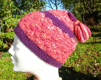 Handmade Hat, Crochet Hat, 100% Wool, Beanie Hat, Winter Beanie, Beanie Hat, Crochet Beanie, Christmas Gift, Bright Color