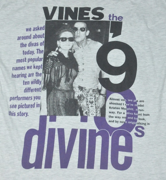 Vintage Vines The 90s Divine T-Shirt FRQ4VsJ7a