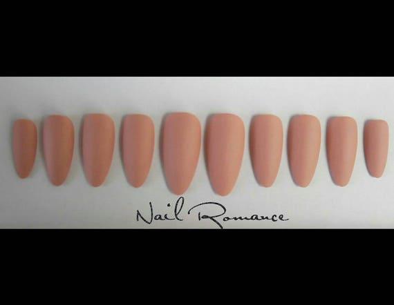 Nude Matte Stiletto Nails/ Stiletto Nails / Matte Nails /Nude Fake ...