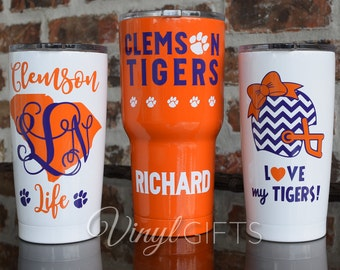 Clemson Tigers Football Tumbler RTIC 30 ounce