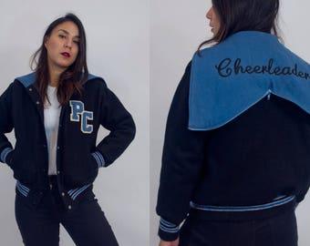 Vintage cheerleader varsity jacket