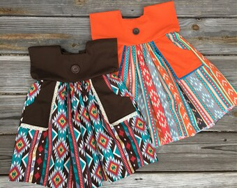 Fall Dress, Autumn dress, Toddler dress, Girl Dress, Aztec Dress
