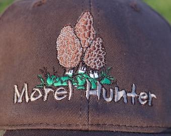New! Camo Morel Hunter Hat - Mossy Oak, Camo Break Through Design- Brown