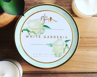 Gardenia 3.5 oz travel tin soy candle