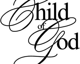 Child of God vinyl decal/sticker
