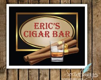 "Custom Cigar Sign 20"" X 30"" or 24"" X 36"" PERSONALIZED - DIGITAL FILE"