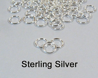 6mm 20ga Sterling Silver Jump Rings - Choose Your Quantity
