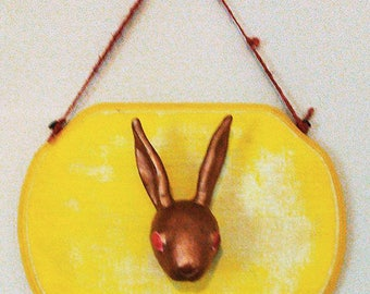 Faux Taxidermy Rabbit Head Wall Mount