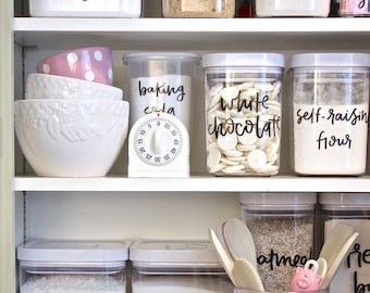 Pantry Organizing decals--Snack Pack