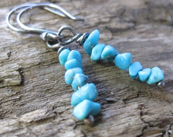 Sleeping Beauty Turquoise Dangles // Sterling Silver // Hand Crafted // Artisan // Eco Friendly