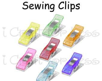 50 Mini Sewing Clip / Quilting Clips /Binding Clips / Craft Clips / Knitting and Crocheting Clips / Plastic Clips - SEE COUPON