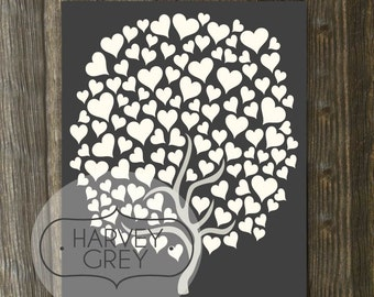 Printable Wedding Guest Book Poster, Guestbook Wedding Tree Signature Print Instant Download Printable, Last Minute Wedding Guestbook Art