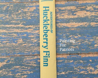 Handcrafted Bookmark - Adventures of Huckleberry Finn by Mark Twain - made from Vintage Book Beyond Repair - Classic Literature