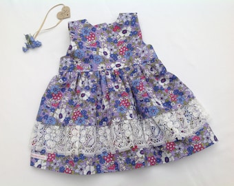 Girls Party dress, girls dress, baby girl dress, lace dress, floral, special occasion,  girls clothing, wedding, baby shower,