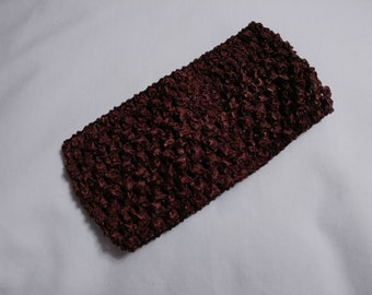 Brown Crochet Headband, Brown Headband, 2.75 Inch brown crochet headband, oatmeal 2.75 inch headband, brown headband