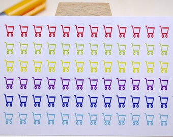 PLANNER STICKER || shopping cart || household || small rainbow colored | for your planner or bullet journal