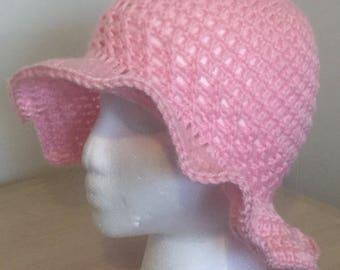 Wide Brim Floppy Sun Hat - Crochet Floppy Beach Hat - Summer Hat