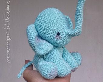 Elephant Amigurumi Crochet Pattern PDF - elephant amigurumi or music box crochet pattern - Instant DOWNLOAD