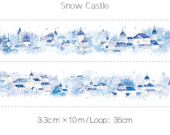1 Roll of Limited Edition Washi  Tape:  Snow Castle