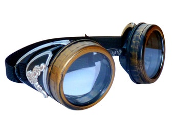 Steampunk GogGLes VicTORian Novelty Glasses cosplay Antique filigree S1