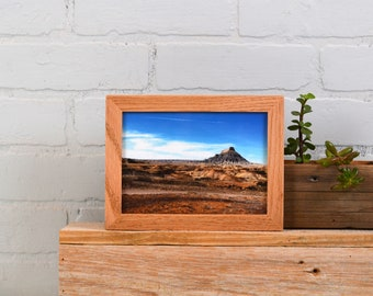 "5x7"" Picture Frame in PeeWee Style with Natural Oak Finish - IN STOCK - Same Day Shipping - Gallery Frame 5 x 7 Solid Hardwood"