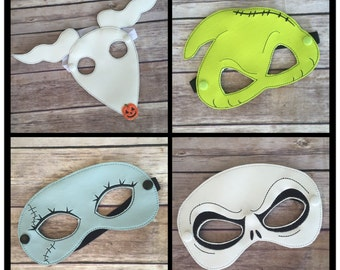 Nightmare Masks inspired by The Nightmare Before Christmas. Kids size