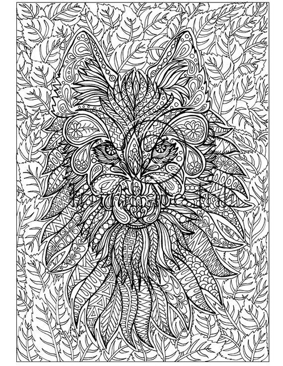 Lobo para colorear página animales para colorear