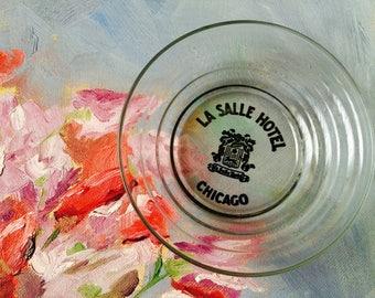 Vintage La Salle Hotel Chicago Advertising Ashtray; Vintage Hotelware; Vintage Chicago; Chicago Hotelware; Stocking Stuffer