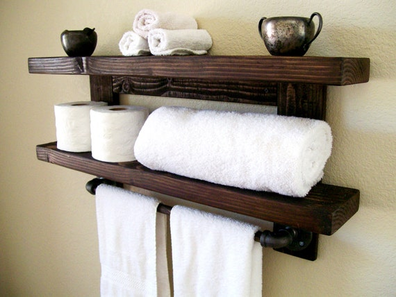 floating shelves bathroom shelf towel rack floating shelf wall shelf wood shelf bathroom shelves toilet paper holder bathroom storage - Bathroom Towel Storage