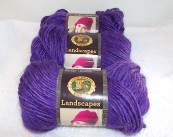 Lion Brand Landscapes Amethyst Yarn, Purple Lion Brand Yarn, Purple Bulky Yarn, Purple Lion Brand Yarn, Purple Yarn