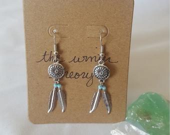 Petite Silver Dreamcatcher Earrings