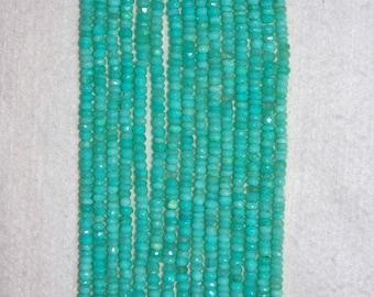 Opal, Peruvian Opal, Faceted Rondelle, Blue Opal, Semi Precious, Natural Stone, Gemstone Rondelle, Opal Bead, Strand, 5-6 mm, AdrianasBeads