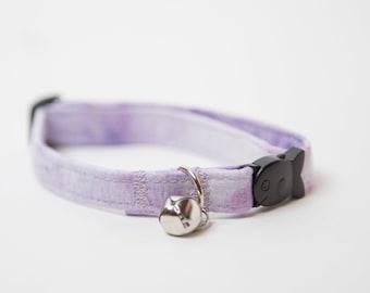 Purple Watercolor Breakaway Cat Collar, Cat Collar, Marble Pattern Collar, Purple Marble Pattern Cat Collar, Cat Marble Collar, Cat Collars