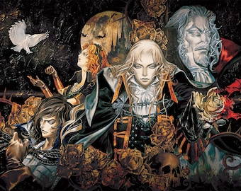 """Castlevania Symphony of the Night 36 x 24"""" Video Game Poster"""