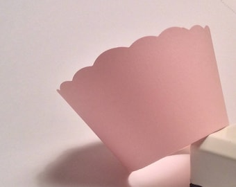 Blush Pink Cupcake Wrappers  weddings, bridal and baby showers